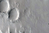 Possible Deltas in Crater in Amazonis Planitia