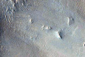 Fans or Lobes at Valley Terminus at Intersection of Crater Wall and Floor
