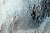 Northern Continuous Ejecta Boundary of Noord Crater in Noachis Terra