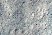 Curvilinear Flat-Topped Ridge and Wrinkle Ridge West of Maja Valles