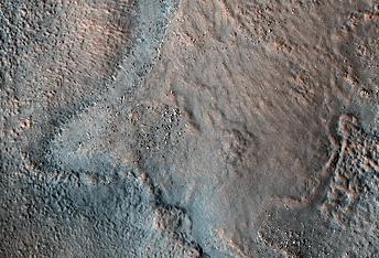 Gestörte Sedimentschichtenin Acidalia Planitia