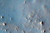 Landforms South of Antoniadi Crater