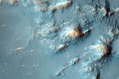Rugged Knobby Surface in Gale Crater Ejecta Deposit