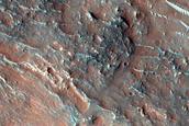 Well-Exposed Crater Ejecta in Tyrrhena Terra