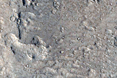 Landforms near Avernus Dorsa