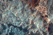 Monitor Slopes of Crater on Floor of Coprates Chasma