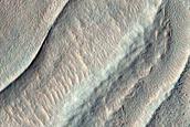 Ridges on Crater Floor near Arkhangelsky Crater