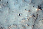 Crater Rim in Northeast Hesperia Planum