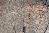 Gullies in Promethei Terra Crater