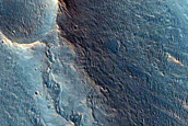 Drainage Features South of Orson Welles Crater