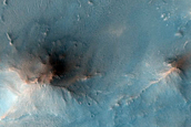 Diverse Minerals in Crater West of Nili Fossae
