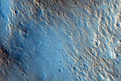 Impact Ejecta South of Trouvelot Crater