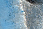Landform with Well-Preserved Crater