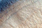 Layers along Crater Wall in Deuteronilus Mensae