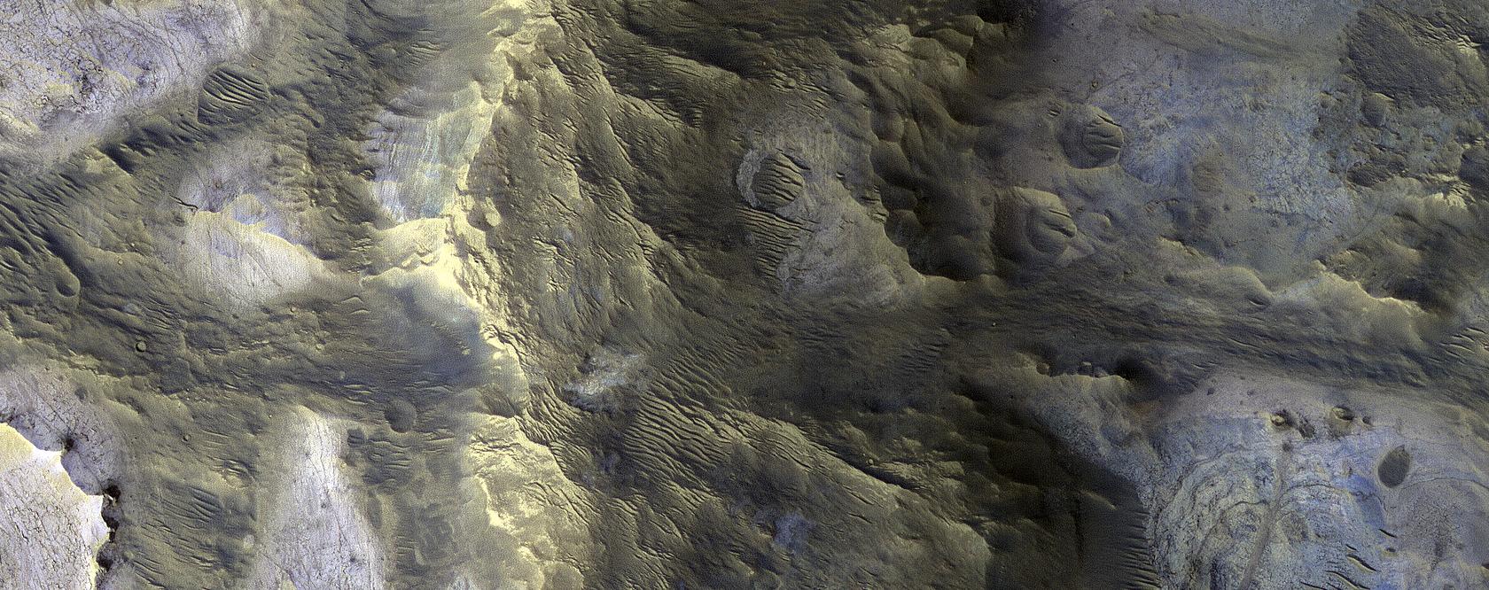 A Technicolor Mound near Oxia Planum