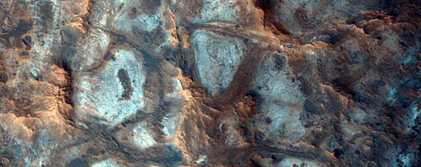 Elongated Mound Northwest of Oxia Planum