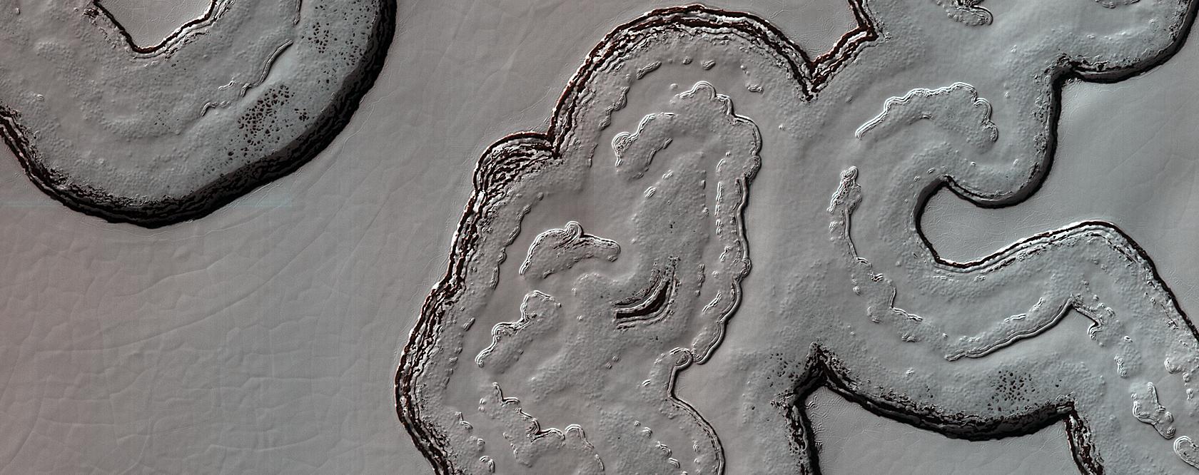 South Polar Cap Terrain