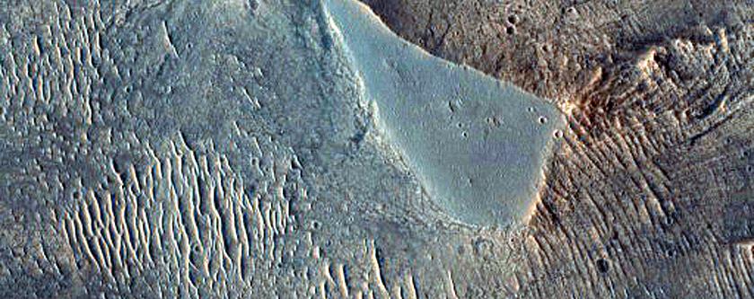 Landslide Deposit in West Candor Chasma
