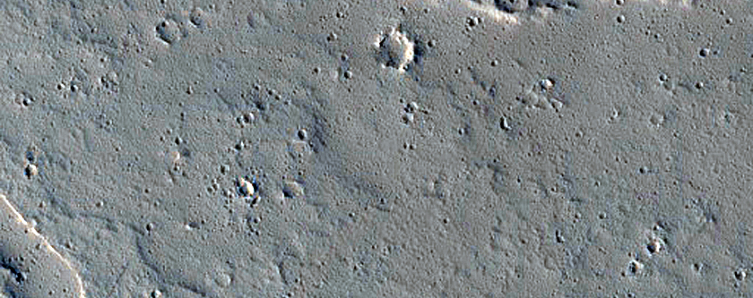 Candidate Recent Impact Site East of Ascraeus Mons