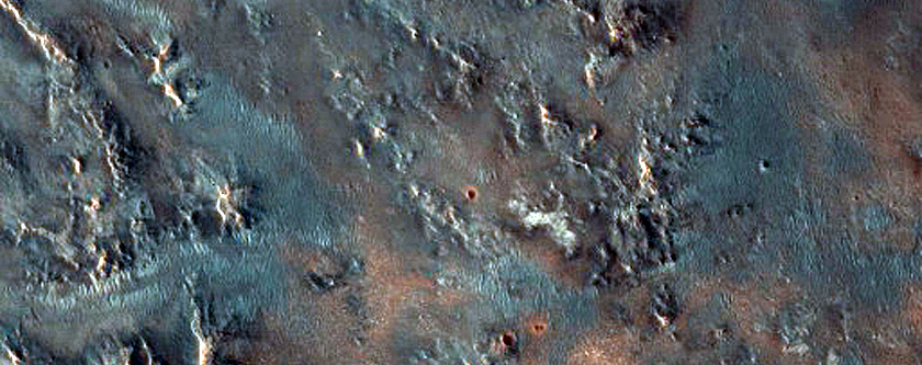 Crater Ejecta in Tyrrhena Terra