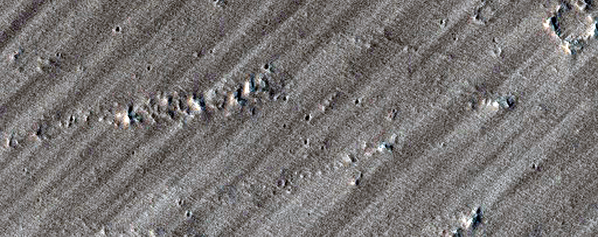 Candidate New Impact East of Pavonis Mons