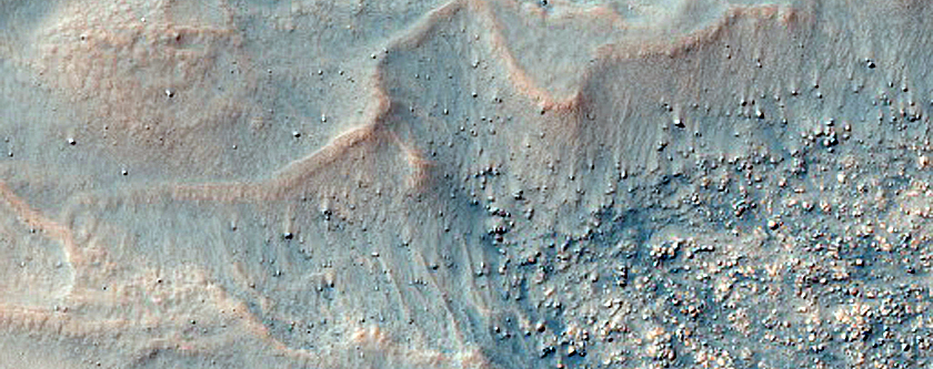 Linear Features on Crater Floor