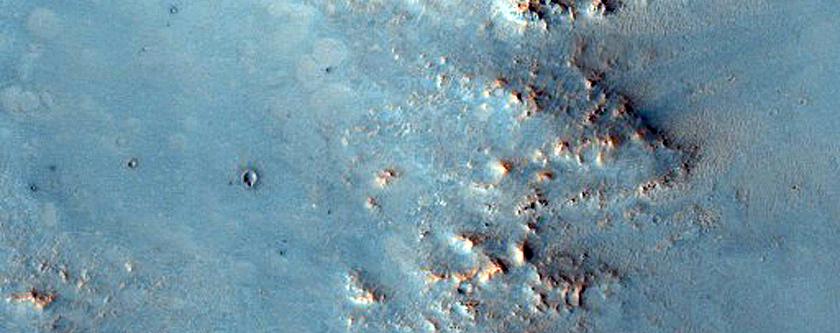 Cratered Terrain North of Syrtis Major Planum