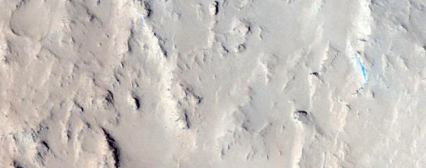 Floor of Du Martheray Crater