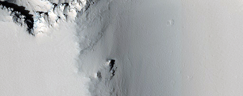 Possible Volcanic Vent in Noctis Labyrinthus