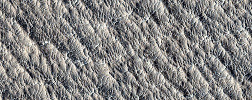 Landforms Northwest of Lucus Planum