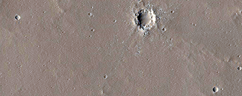 Candidate New Impact in Eastern Tharsis Region