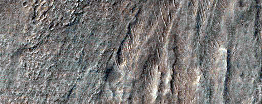 Landforms in Southeastern Hellas Planitia