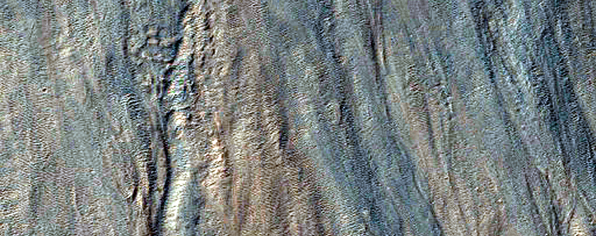 Ridge Associated with Lobate Flow Feature
