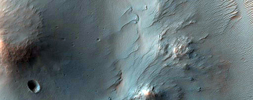 Central Peak Pit of 37-Kilometer Diameter Crater in Terra Cimmeria