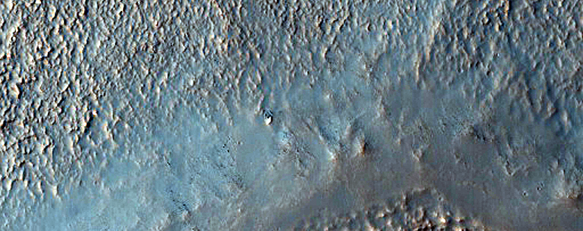 Two Notches near Lowest Elevation Point of Crater Rim