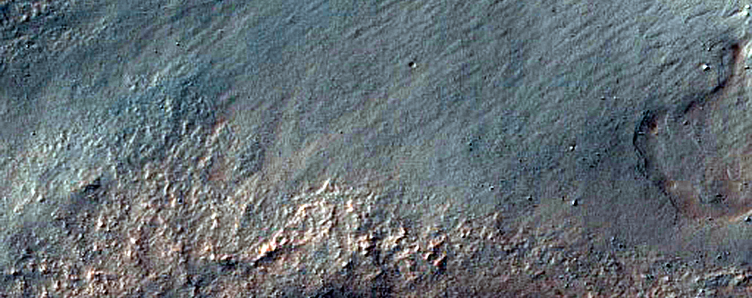 Depression with Gullies and Exposed Layering Northwest of Argyre Planitia