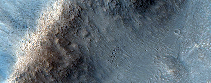 Channels in Orson Welles Crater