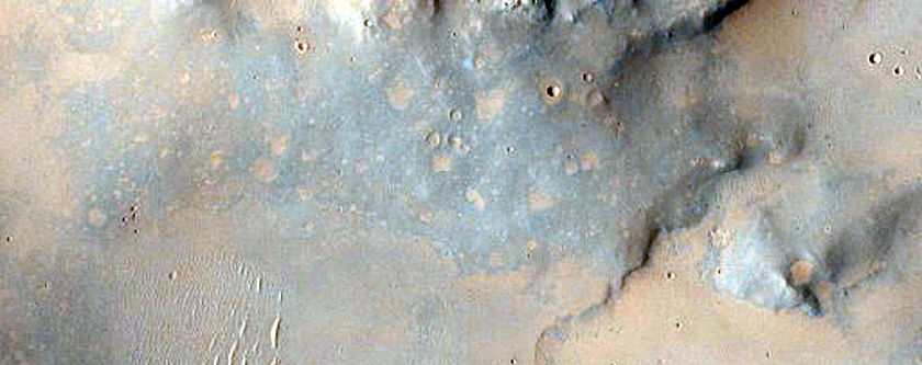 Phyllosilicate Knobs in Leighton Crater