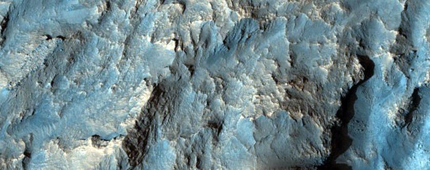 Landforms on Floor of Wahoo Crater