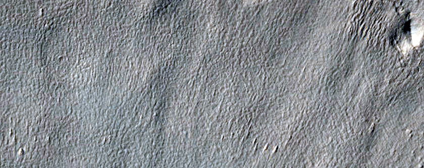 Layered Material inside Impact Crater