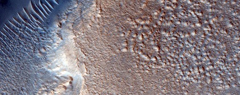 Fan along Crater Wall