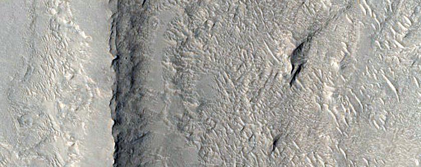 Polygonal Features in Robert Sharp Crater