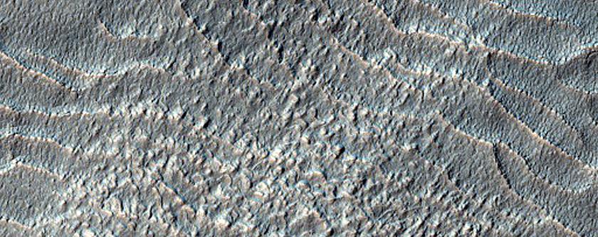 Ridges in Rabe Crater