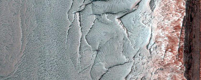 Steep Scarp on North Polar Layered Deposits
