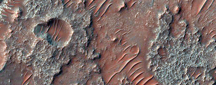 Exposure of Light-Toned Material in Terra Sabaea Intercrater Plain