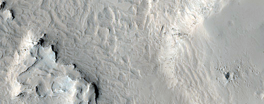 Layers in Crater North of Meridiani Planum