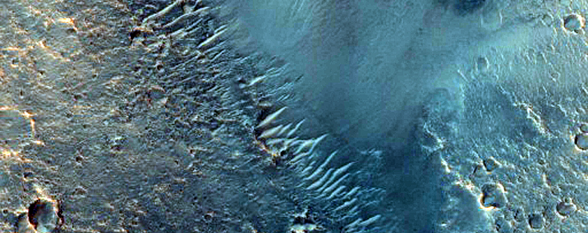 Chain of Layered Mounds in Chryse Planitia