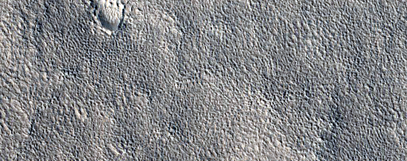 Expanded Secondary Crater Cluster in Arcadia Planitia