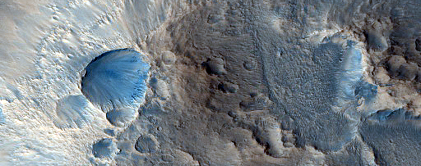 Impact Related Flows near Mojave Crater