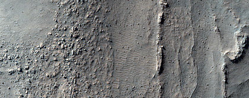 Ridges in Douglass Crater
